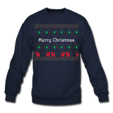 Merry Chistmas Design gift for Family Unisex, Crewneck Sweatshirt - navy