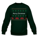 Merry Chistmas Design gift for Family Unisex, Crewneck Sweatshirt - forest green