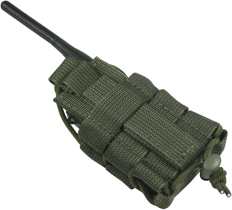 Tactical MOLLE Radio Pouch - OD Green