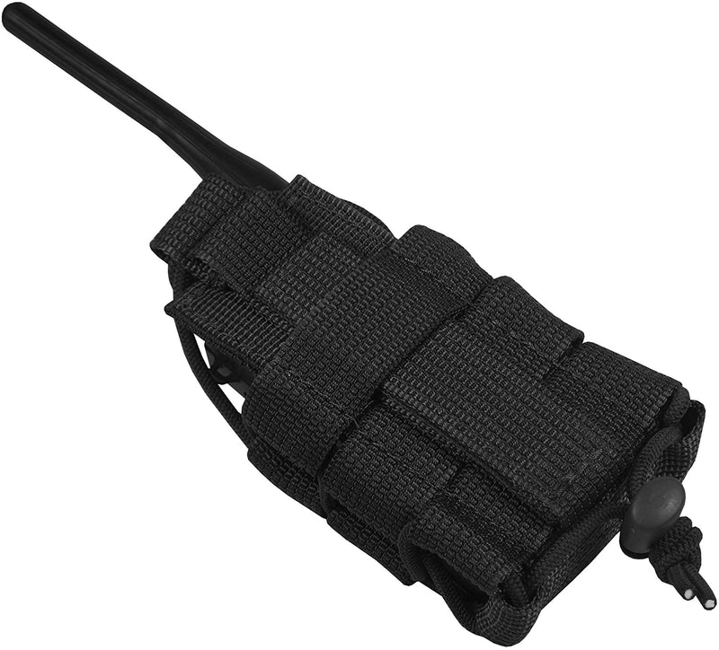 Tactical MOLLE Radio Pouch -Black