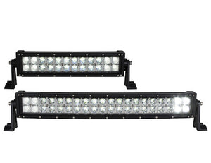 Curved Double Row LED Combination Spot-Flood Light Bar