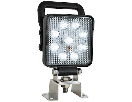 4 In. Square LED Flood Light with Switch and Handle