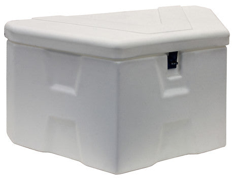 White Poly Trailer Tongue Truck Box