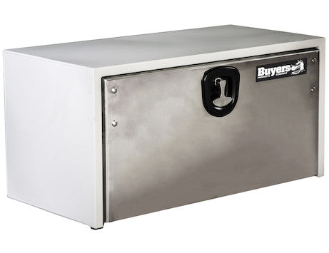 White Steel Underbody Truck Box with Stainless Steel Door