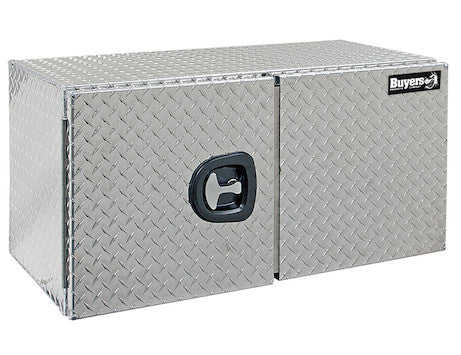 Diamond Tread Aluminum Underbody Truck Box with Barn Door