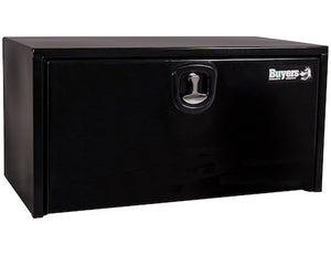 Black Steel Underbody Truck Box with 3-Point Latch