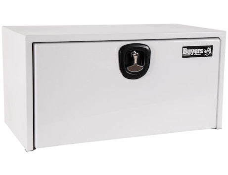 White Steel Underbody Truck Box with 3-Point Latch