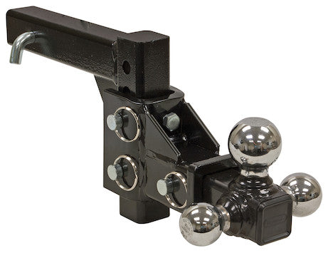 Adjustable Tri-Ball Hitch with Chrome Towing Balls