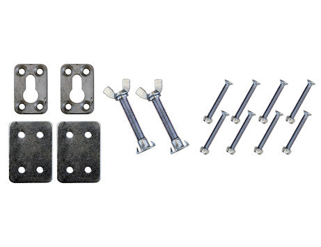 Mounting Hardware for Chrome Plated Steel Motorcycle Chock