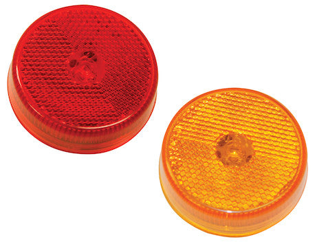 2.5 Inch Round Marker Clearance Lights with Reflex and 4 LEDs