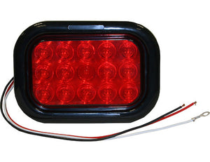 5.33 Inch Rectangular Stop/Turn/Tail Light Kit with 15 LEDs