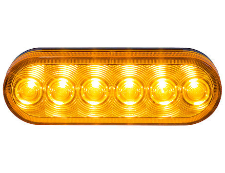 6 Inch Oval Turn and Park Light with 6 LEDs