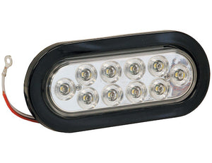 6 Inch Oval Backup Light with 10 LEDs