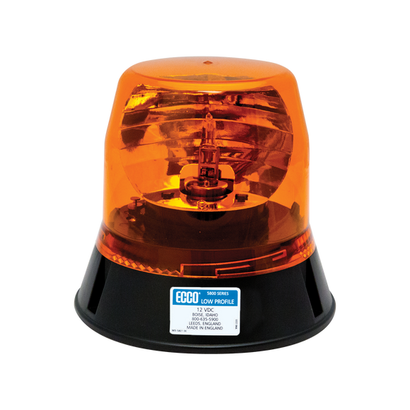 Rotating Beacon: Low profile, 12VDC, 160 FPM
