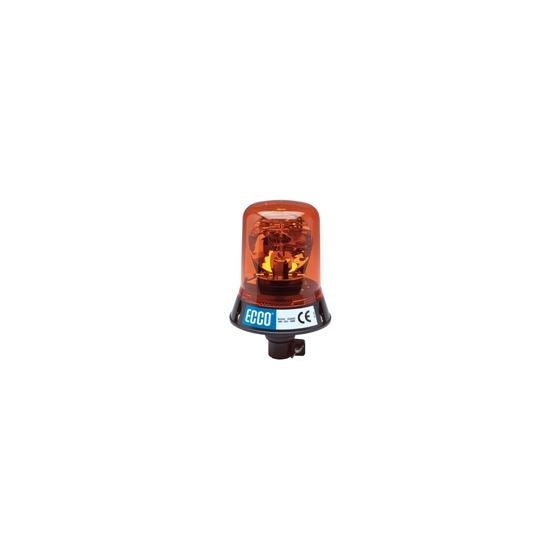 Rotating Beacon: High profile, 12VDC, 160 FPM, DIN pole mount, amber