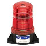 LED Beacon: Medium profile, 12-80VDC, pulse8 flash, wire exit bottom