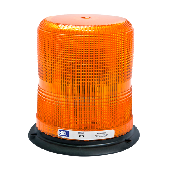 Strobe Beacon: Medium profile, 12-24VDC, 8,12,13, or 17 joules, double or quad flash, medium or high intensity