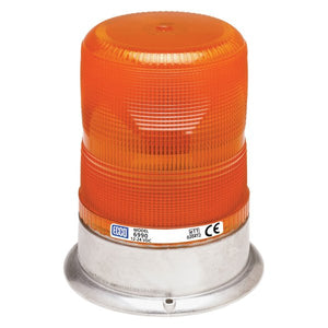 Strobe Beacon: High profile, 12-24VDC, 8,12,13, or 17 joules, double or quad flash, medium or high intensity, amber
