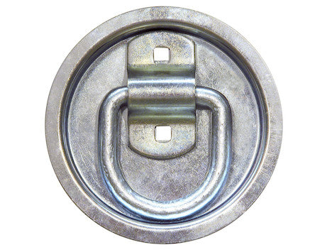 Bolt-On 1/2 Inch Forged D-Ring with Recessed Pan Mount