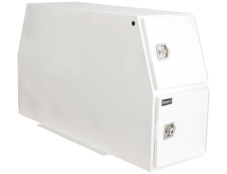 White Steel Backpack Truck Box with Flat Floor Series