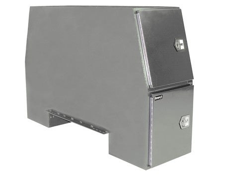 Primed Steel Backpack Truck Box with Offset Floor