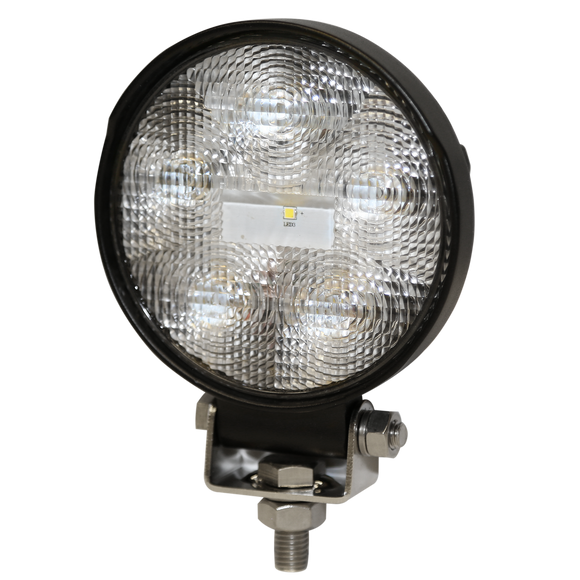 Worklamp: LED (6), flood beam, round, 12-24VDC