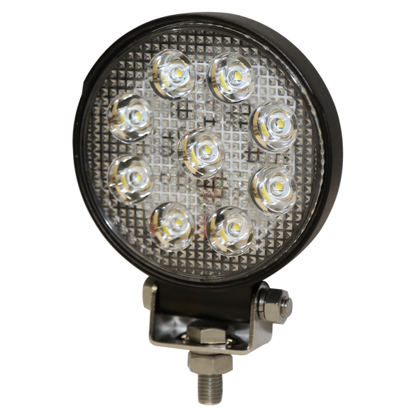 Worklamp: LED (8), flood beam, round, 12-24VDC