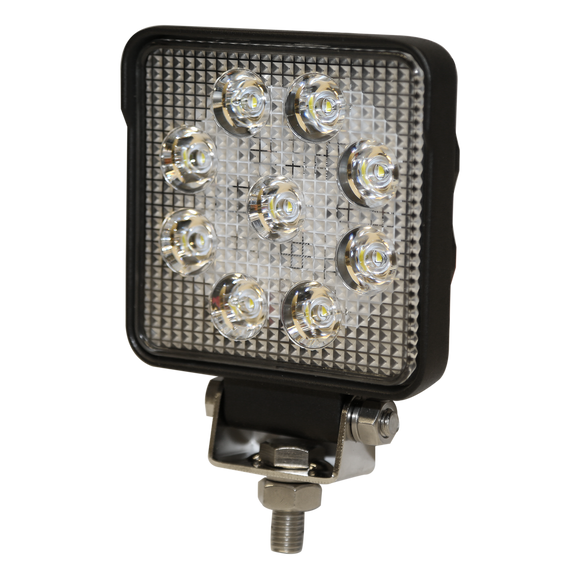 Worklamp: LED (9), flood beam, square, 12-24VDC