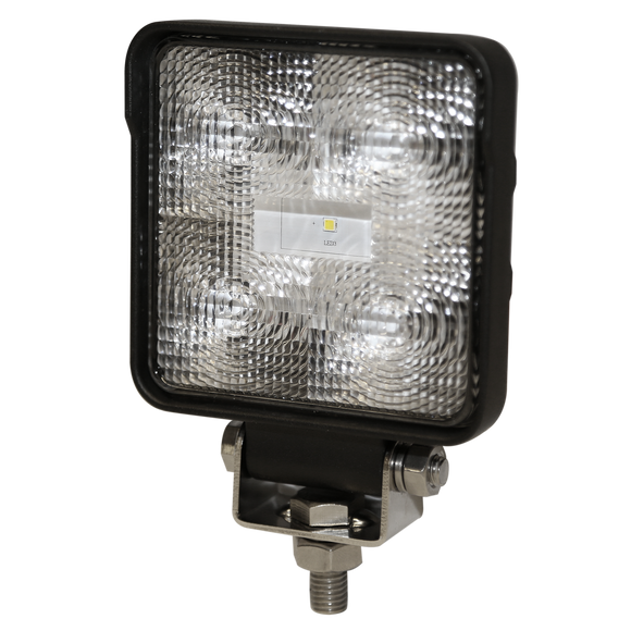 Worklamp: LED (5), flood beam, square, 12-24VDC
