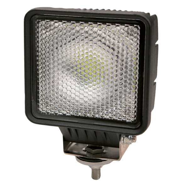 Worklamp: LED (30), flood beam, square, 12-24VDC