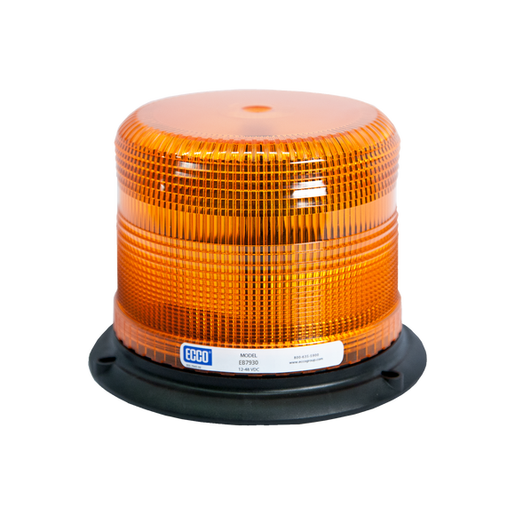 LED Beacon: Pulse II, reinforced polypropylene base, epoxy filled, low profile, 12-48VDC, 11 flash patterns