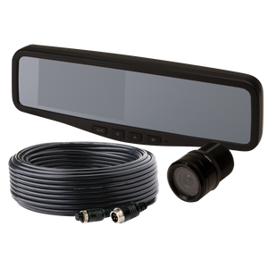 "Camera Kit: Gemineye, 4.3"" LCD Rear View Mirror, color, audio, expandable up to 2 cameras, 12-24VDC (includes EC4204-M, EC2015-C & ""Y"" cable)"