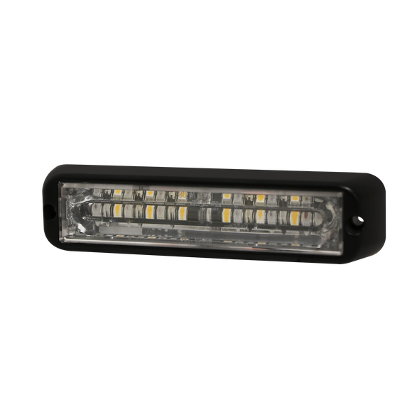 Directional LED: Dual-color, surface mount, 12-24VDC, 12 flash patterns, amber/blue