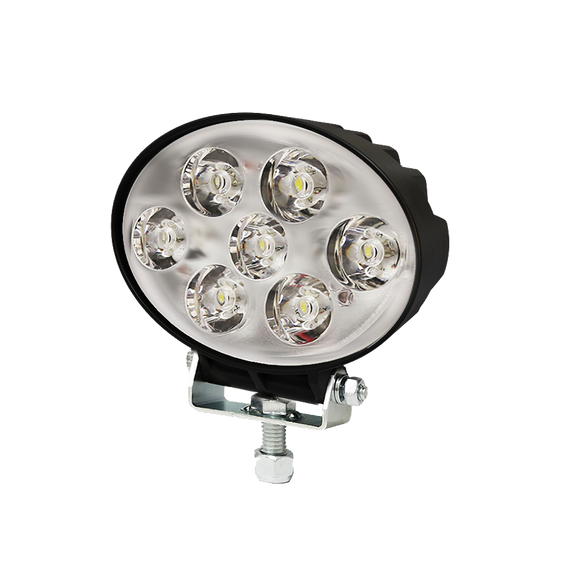 Worklamp: LED (7), flood beam, oval 12-80VDC