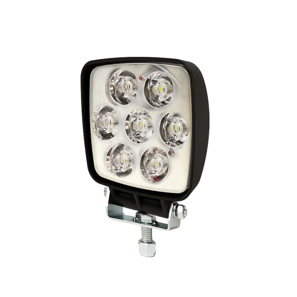 Worklamp: LED (7), flood beam, square 12-80VDC