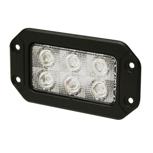 Worklamp: LED (6), rectangular, 12-24VDC