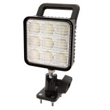 Worklamp: LED (9), spot beam, square, swivel mount, handle, 12-24VDC