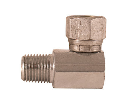 Female Pipe Swivel to Male Pipe 90º Elbow