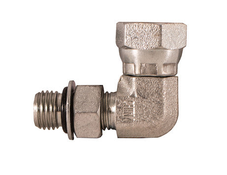 Male Straight Thread to Female Pipe Swivel 90º Elbow