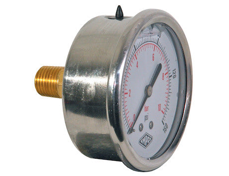 Silicone Filled Pressure Gauge - Center Back Mount