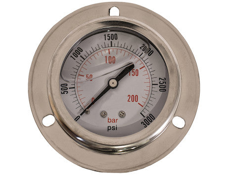 Silicone Filled Pressure Gauge - Flange Mount