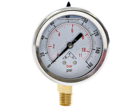 Silicone Filled Pressure Gauge - Stem Mount