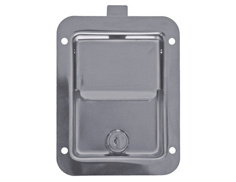 Standard Size Stainless Steel Flush Mount Rectangular Paddle Latch