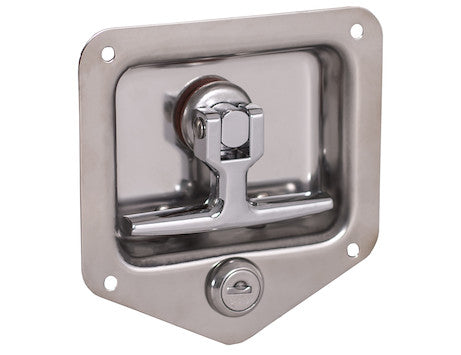 Standard Size 3 Point T-Handle Latch with Mounting Holes