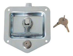 Zinc Plated Single Point T-Handle Latch with Mounting Holes