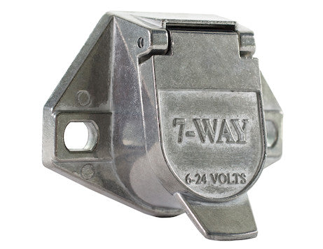 7-Way Die-Cast Zinc Trailer Connector - Truck-Side