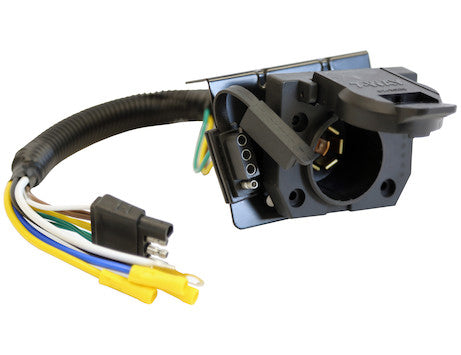 Dual-Plug 7-Way & 4-Way Trailer Connector