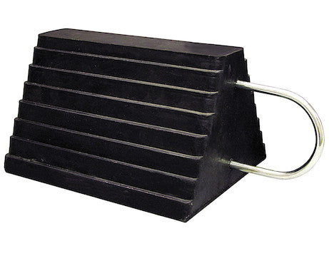 Heavy Duty Rubber Wheel Chock with U-Handle