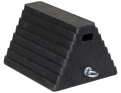 Heavy Duty Rubber Wheel Chock with Chain Eye