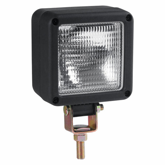 Worklamp: Halogen, flood beam, square, 12VDC